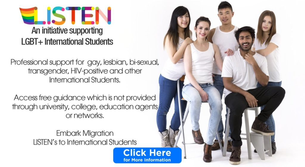 LISTEN support for LGBT international students