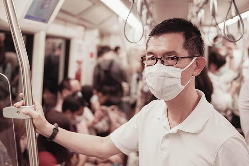 Wearing a mask on public transport