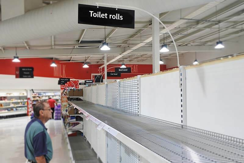 No toilet paper in supermarkets