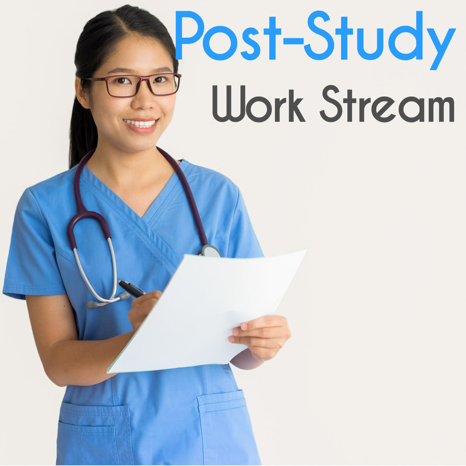 post study work visa application fee